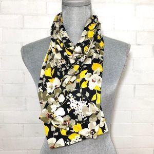 Vera Bradley yellow 'Dogwood' floral knit scarf